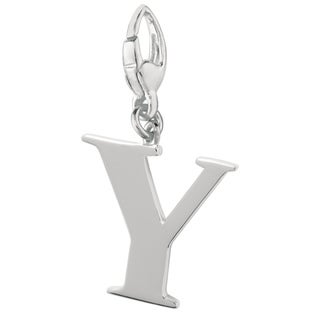 Sterling Silver Initial 'Y' Charm