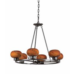 Atomique Cognac Glass 6-light Chandelier