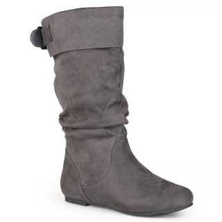 Journee Collection Women's Microsuede Slouchy Mid-calf Boots