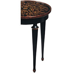 Hand-painted Round Accent Table