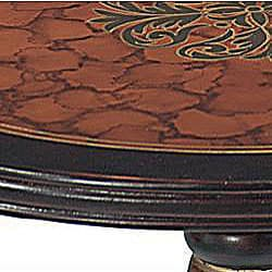 Hand-painted Walnut Finish Accent Table