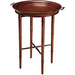 Cherry Finish Round Tray Table