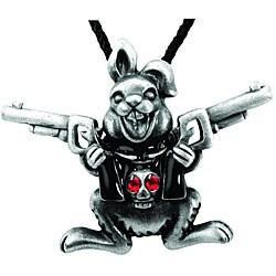 Pewter Gun Bunny Necklace