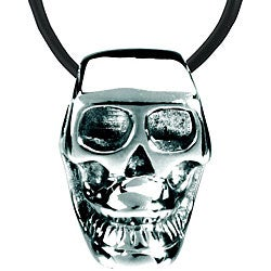 Stainless Steel Skull Bead Necklace