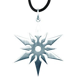 Stainless Steel Ninja Star Necklace