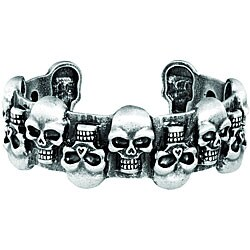 Pewter Skull Cuff Bracelet