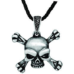 Pewter Skull and Crossbones Necklace