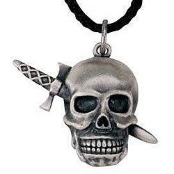 Pewter 'Skull Dagger' Necklace