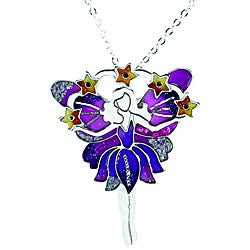 Pewter Purple Fairy Necklace