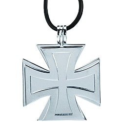 Stainless Steel Two-piece Iron Cross Necklace