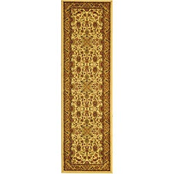 Lyndhurst Collection Ohsak Ivory/ Tan Rug (2'3 x 14')