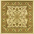 Lyndhurst Collection Ohsak Ivory/ Tan Rug (6' Square)