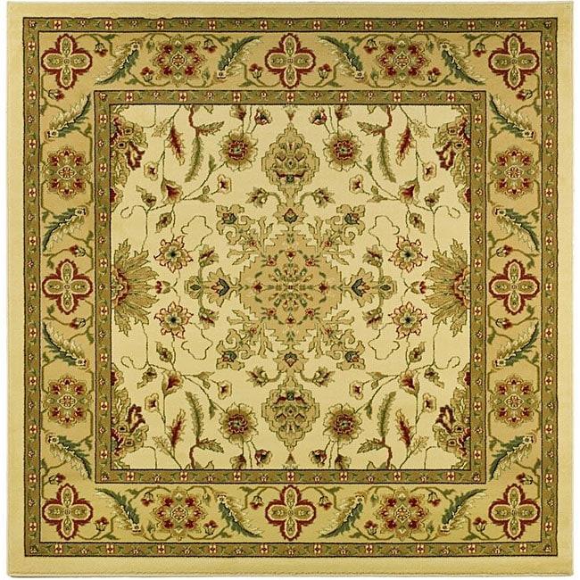 Lyndhurst Collection Ohsak Ivory/ Tan Rug (8 Square)
