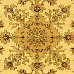 Lyndhurst Collection Ohsak Ivory/ Tan Rug (6' x 9')
