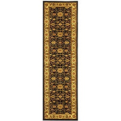 Lyndhurst Collection Majestic Black/ Ivory Runner (2'3 x 14')