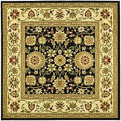 Safavieh Lyndhurst Collection Majestic Black/ Ivory Rug (6' Square)