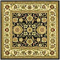 Safavieh Lyndhurst Collection Majestic Black/ Ivory Rug (6' Square)