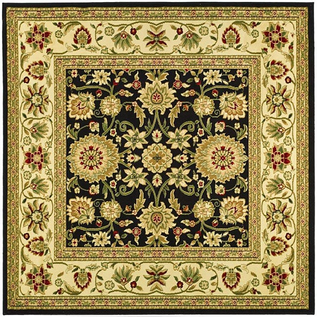 Safavieh Lyndhurst Collection Majestic Black/ Ivory Rug (8' Square)