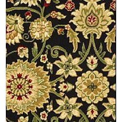 Lyndhurst Collection Majestic Black/ Ivory Rug (8' Square)