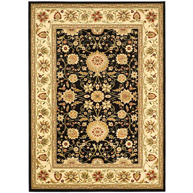 Safavieh Lyndhurst Collection Majestic Black/ Ivory Rug (6' x 9')