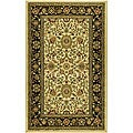 Lyndhurst Collection Majestic Ivory/ Black Rug (3'3 x 5'3)