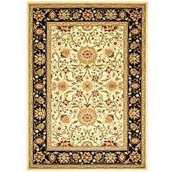 Safavieh Lyndhurst Collection Majestic Ivory/ Black Rug (6' x 9')