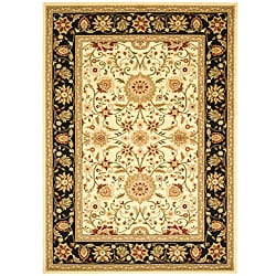 Safavieh Lyndhurst Collection Majestic Ivory/ Black Rug (8' x 11')
