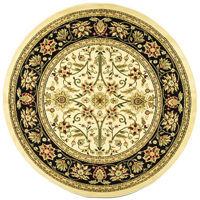 Safavieh Lyndhurst Collection Majestic Ivory/ Black Rug (5'3 Round)