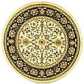 Safavieh Lyndhurst Collection Majestic Ivory/ Black Rug (8' Round)