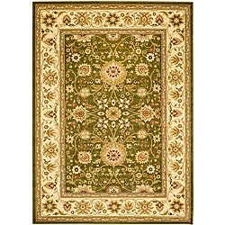 Lyndhurst Collection Majestic Sage/ Ivory Rug (5'3 x 7'6)