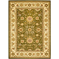 Lyndhurst Collection Majestic Sage/ Ivory Rug (6' x 9')