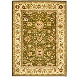 Lyndhurst Collection Majestic Sage/Ivory Rug (8' x 11')