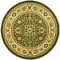 Lyndhurst Collection Majestic Sage/ Ivory Rug (5'3 Round)