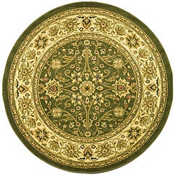 Lyndhurst Collection Majestic Sage/ Ivory Rug (8' Round)