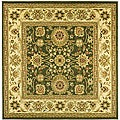 Lyndhurst Collection Majestic Sage/ Ivory Rug (6' Square)