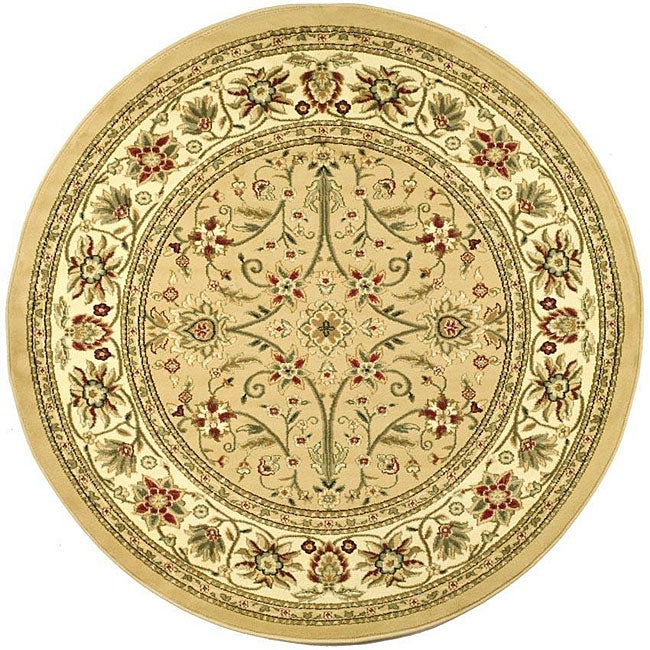 Safavieh Lyndhurst Collection Majestic Beige/ Ivory Rug (5'3 Round)