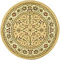 Safavieh Lyndhurst Collection Majestic Beige/ Ivory Rug (8' Round)