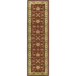 Lyndhurst Collection Majestic Red/ Ivory Runner (2'3 x 14')