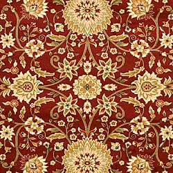 Safavieh Lyndhurst Collection Majestic Maroon/Ivory Rug (8' x 11')