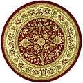 Safavieh Lyndhurst Collection Majestic Red/ Ivory Rug (5'3 Round)