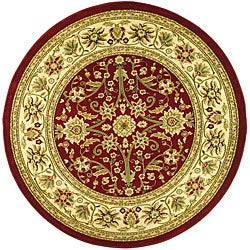 Safavieh Lyndhurst Collection Majestic Red/ Ivory Rug (8' Round)