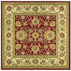 Safavieh Lyndhurst Collection Majestic Red/ Ivory Rug (6' Square)