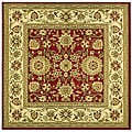 Lyndhurst Collection Majestic Red/ Ivory Rug (6' Square)