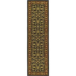 Lyndhurst Collection Majestic Black/ Red Runner (2'3 x 14')
