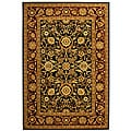 Lyndhurst Collection Majestic Black/ Red Rug (3'3 x 5'3)
