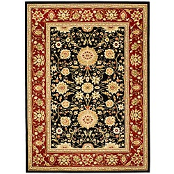 Safavieh Lyndhurst Collection Majestic Black/ Red Rug (5'3 x 7'6)