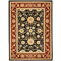Lyndhurst Collection Majestic Black/ Red Rug (5'3 x 7'6)