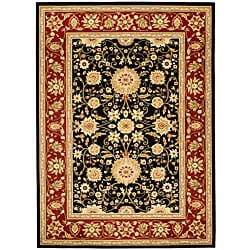 Safavieh Lyndhurst Collection Majestic Black/ Red Rug (6' x 9')