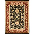 Lyndhurst Collection Majestic Black/ Red Rug (6' x 9')
