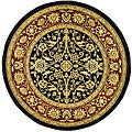 Lyndhurst Collection Majestic Black/ Red Rug (8' Round)
